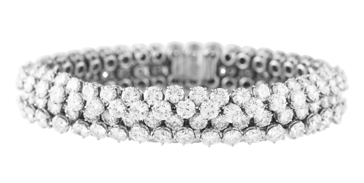 Platinum and Diamond Bracelet by Van Cleef & Arpels, France, 1969
