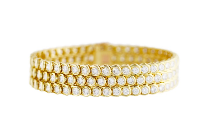 18 Karat Gold and Diamond Bracelet by Van Cleef & Arpels, France