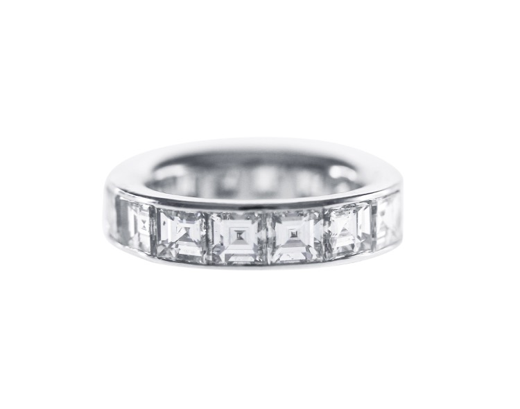 in magnified eternity side band lhuillier monique platinum polished diamond top bands ct video view image