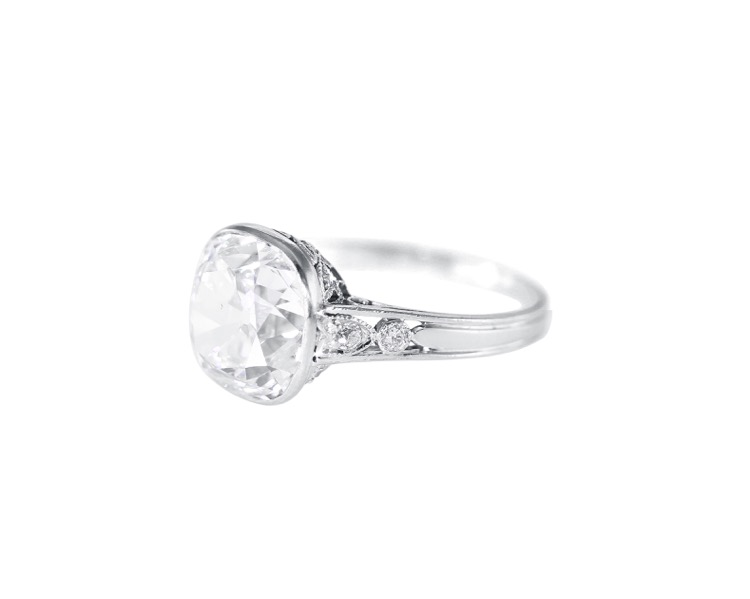 Edwardian Platinum and Diamond Ring by J.E. Caldwell - Image #2
