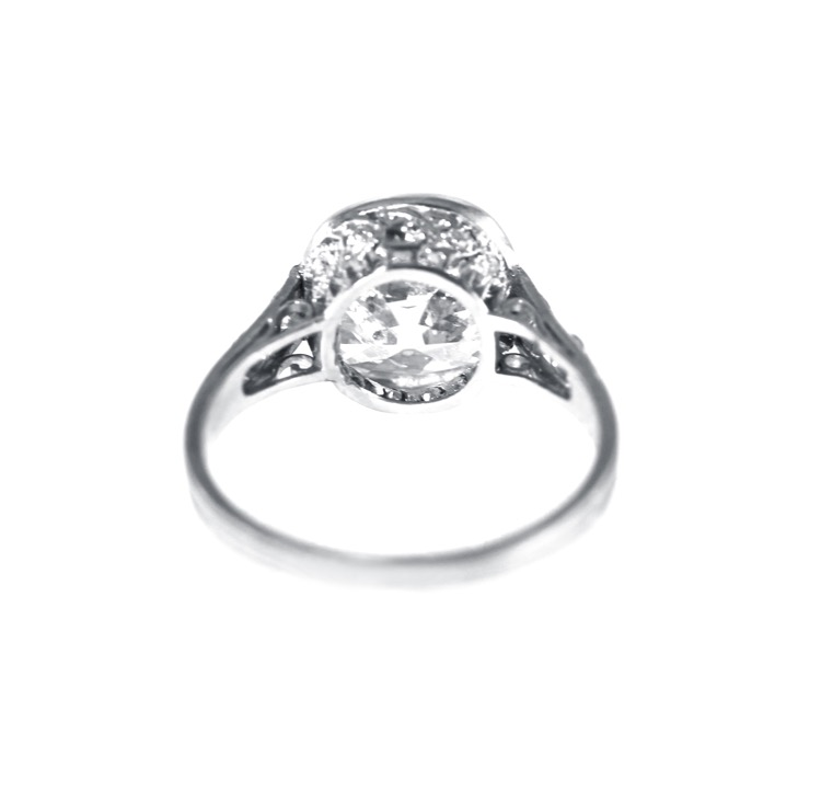 Edwardian Platinum and Diamond Ring by J.E. Caldwell - Image #4
