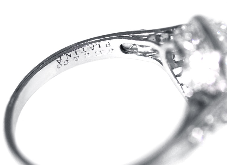Edwardian Platinum and Diamond Ring by J.E. Caldwell - Image #6