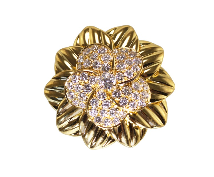 18 Karat Gold and Diamond Brooch by Van Cleef & Arpels, France