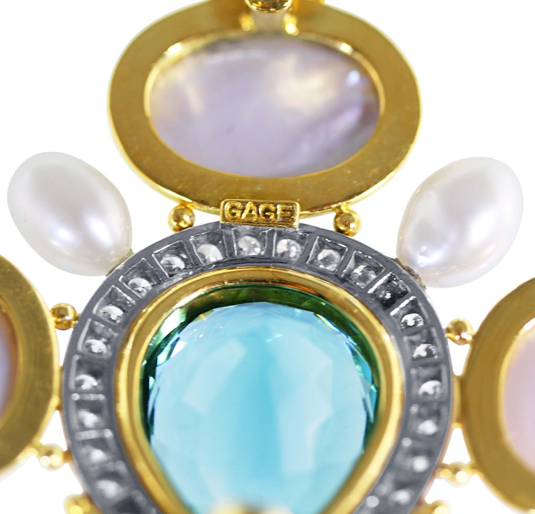 Suite of 18 Karat Gold, Pearl, Tourmaline and Diamond Jewelry by Elizabeth Gage - Image #7