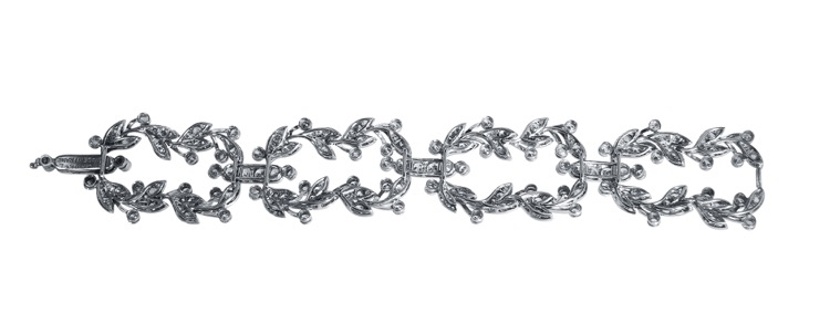 Belle Epoque Platinum and Diamond Bracelet by Cartier, France - Image #2