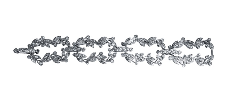 Belle Epoque Platinum and Diamond Bracelet by Cartier, France - Image #5