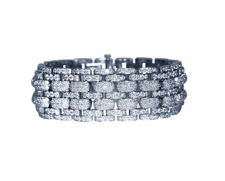 Platinum and Diamond Bracelet by Cartier, France