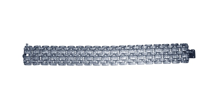 Platinum and Diamond Bracelet by Cartier, France - Image #3