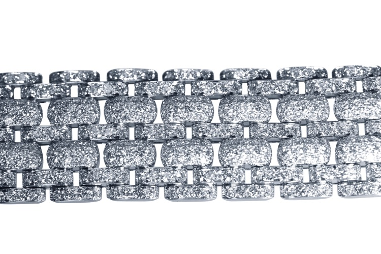 Platinum and Diamond Bracelet by Cartier, France - Image #5