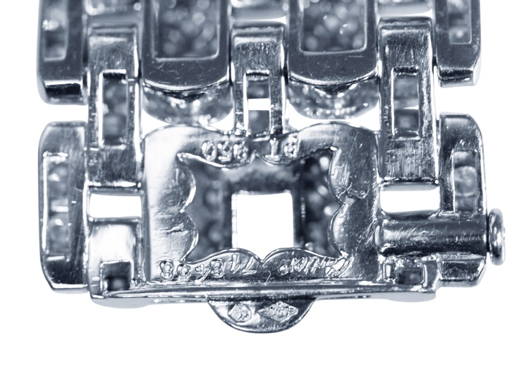 Platinum and Diamond Bracelet by Cartier, France - Image #6