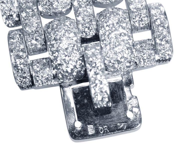 Platinum and Diamond Bracelet by Cartier, France - Image #7
