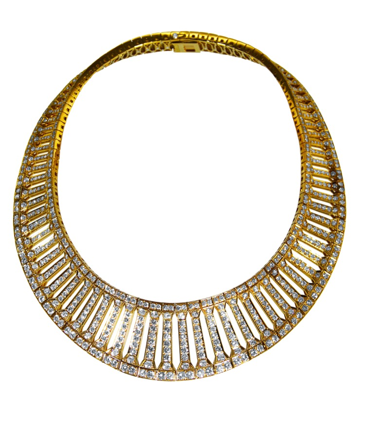 18 Karat Gold and Diamond Necklace by Cartier, France