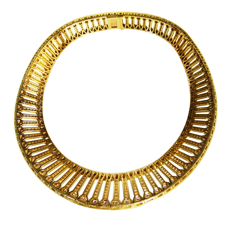 18 Karat Gold and Diamond Necklace by Cartier, France - Image #2