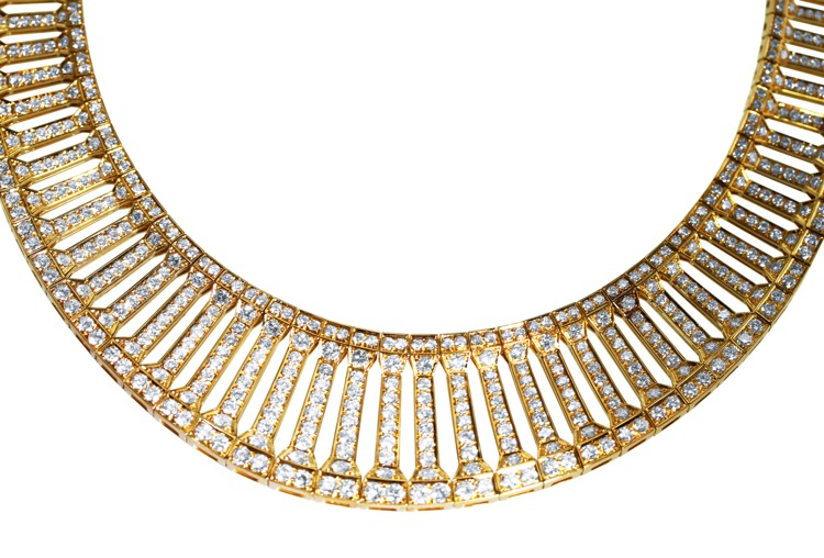 18 Karat Gold and Diamond Necklace by Cartier, France - Image #3