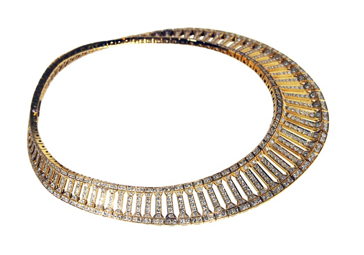 18 Karat Gold and Diamond Necklace by Cartier, France - Image #4
