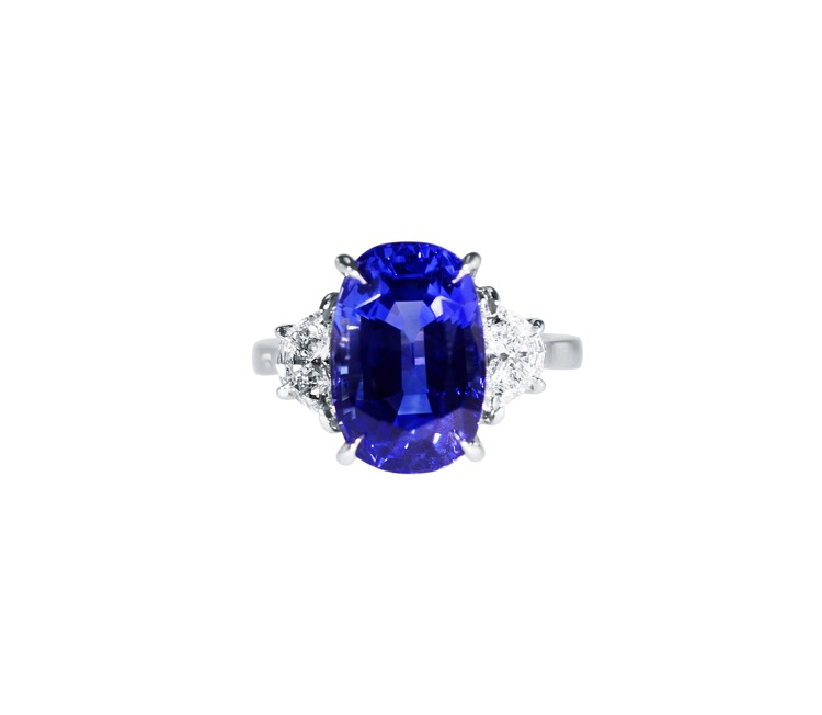 Platinum, Sapphire and Diamond Ring by Aletto Brothers