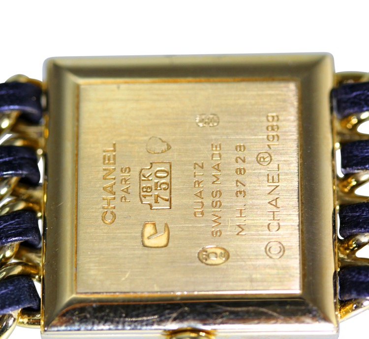 18 Karat Gold, Mother-of-Pearl, Enamel and Leather Wristwatch, Chanel, Paris - Image #6