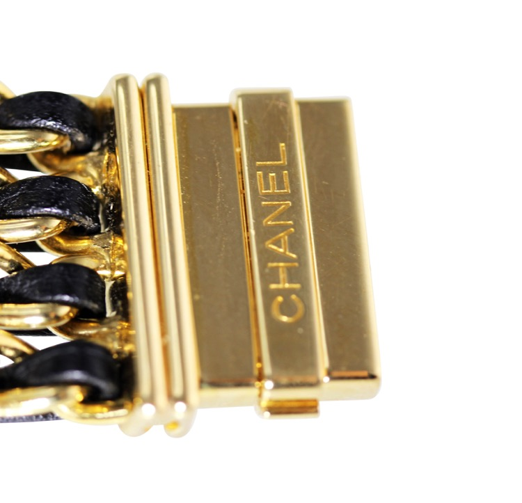 18 Karat Gold, Mother-of-Pearl, Enamel and Leather Wristwatch, Chanel, Paris - Image #8