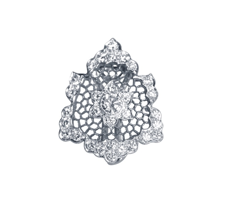 18 Karat White Gold Diamond