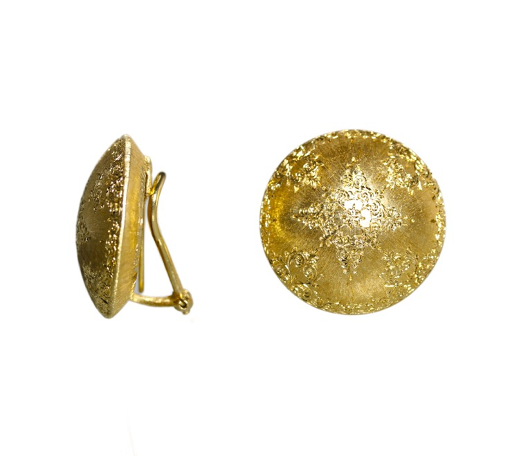 Pair of 18 Karat Gold Earclips by Mario Buccellati, circa 1960 - Image #2