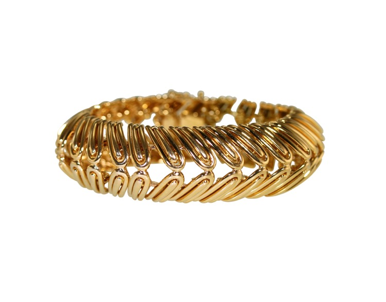 18 Karat Yellow Gold Bracelet, France