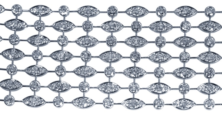18 Karat White Gold and Diamond Bracelet by Cartier, France - Image #5
