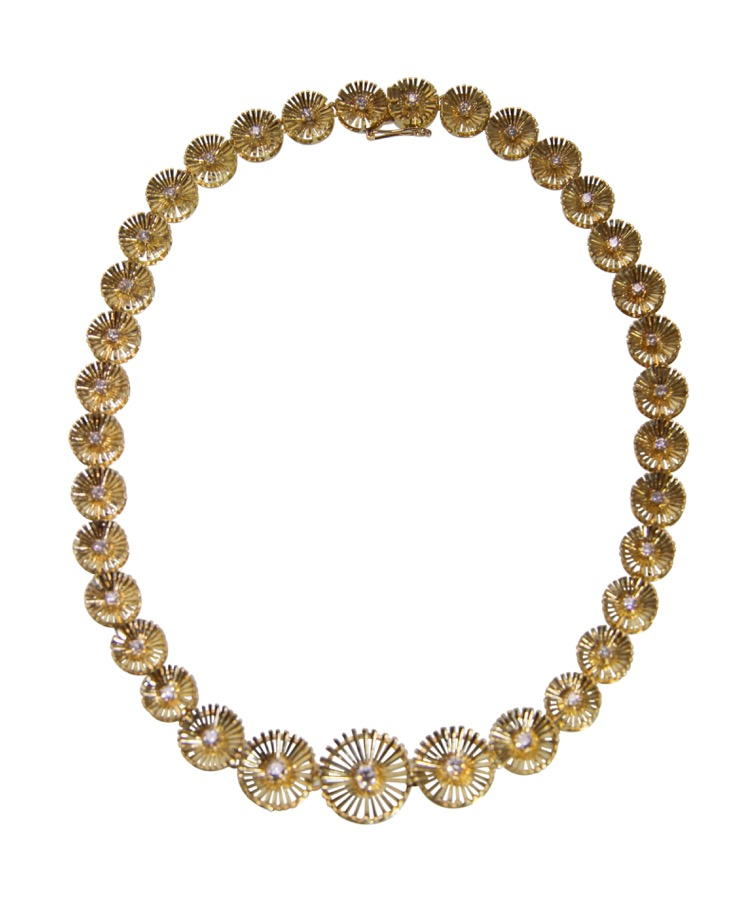 18 Karat Gold and Diamond Necklace by Cartier, circa 1960
