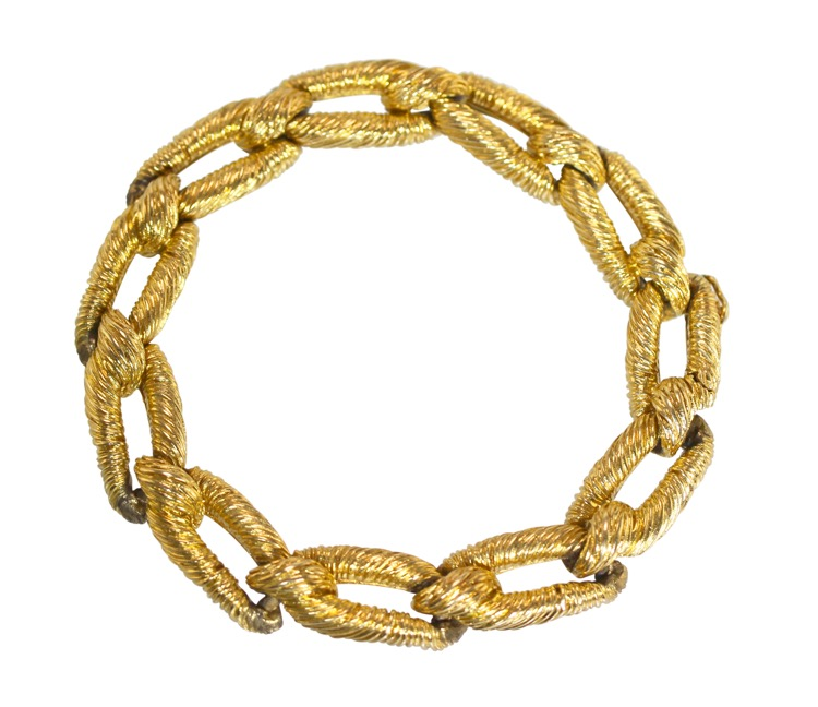 18 Karat Gold Link Bracelet by Cartier, Paris, circa 1970
