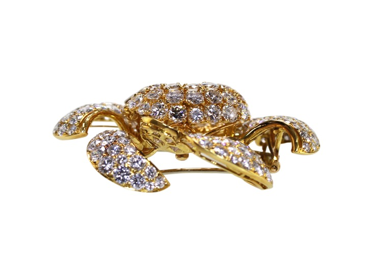 18 Karat Gold and Diamond Flower Brooch by Bulgari - Image #3