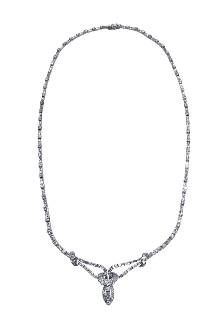 Platinum and Diamond Necklace, circa 1940