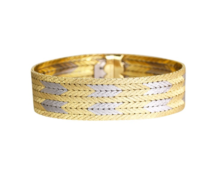 18 Karat Two-Tone Gold Bracelet by Buccellati, Italy