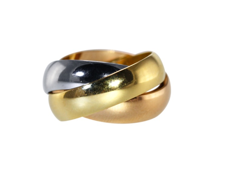 18 Karat Tri-Color Gold Trinity Ring by Cartier