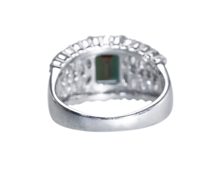 Platinum, Alexandrite and Diamond Ring - Image #5