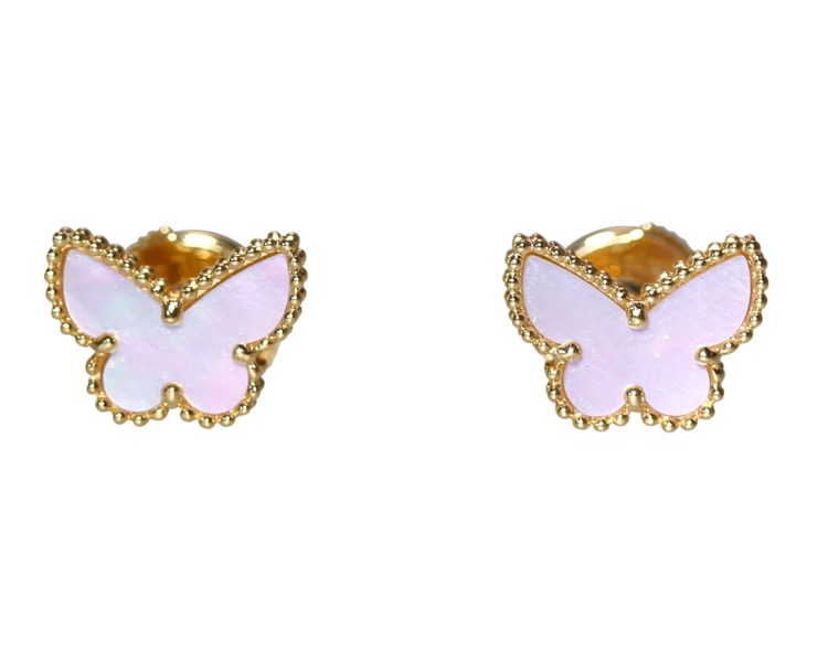 Pair of 18 Karat Gold and Mother-of-Pearl \