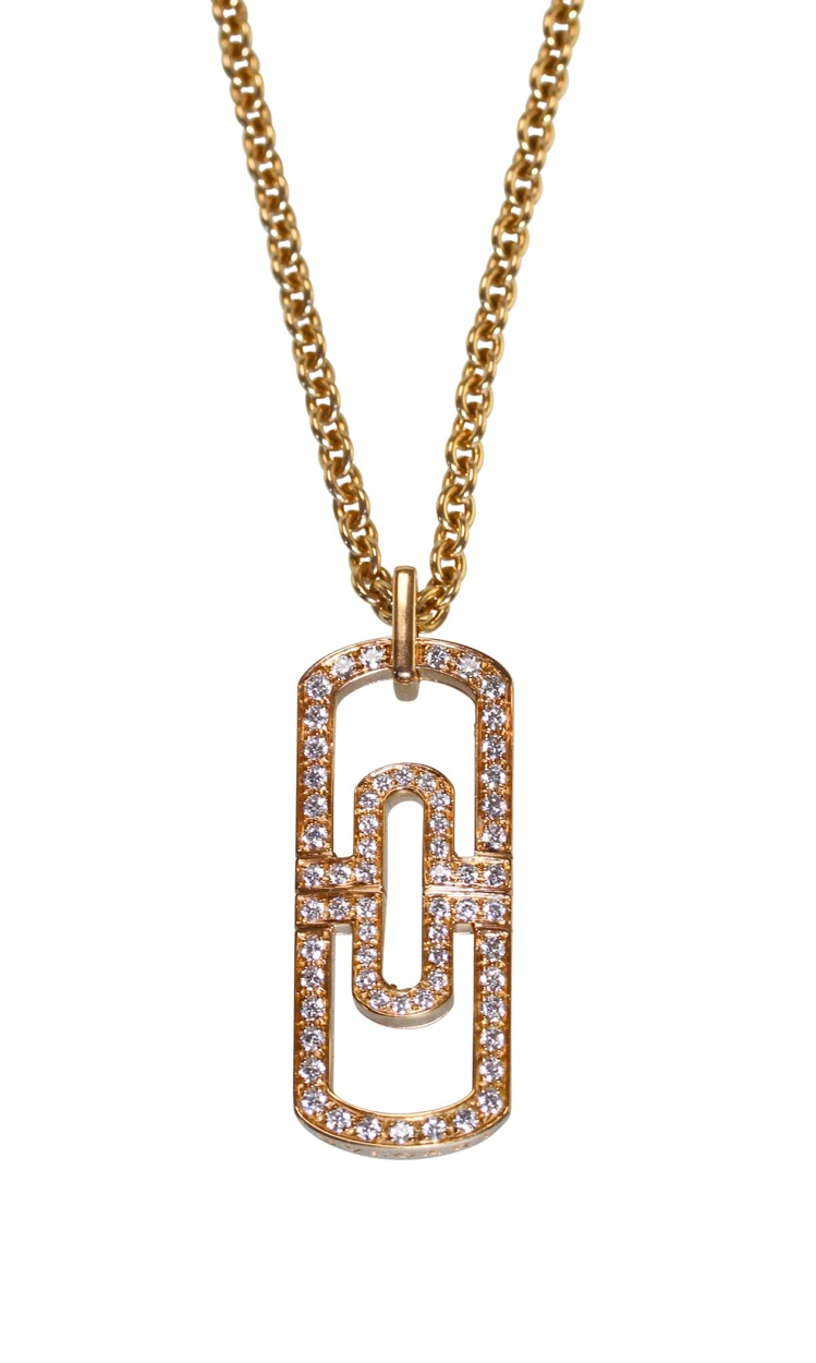 18 Karat Pink Gold and Diamond