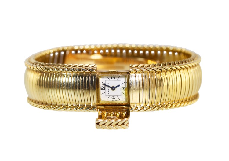 18 Karat Gold Watch by Cartier, France, circa 1950s - Image #2