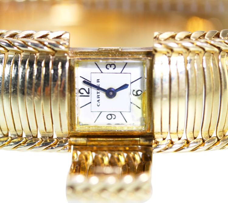 18 Karat Gold Watch by Cartier, France, circa 1950s - Image #4