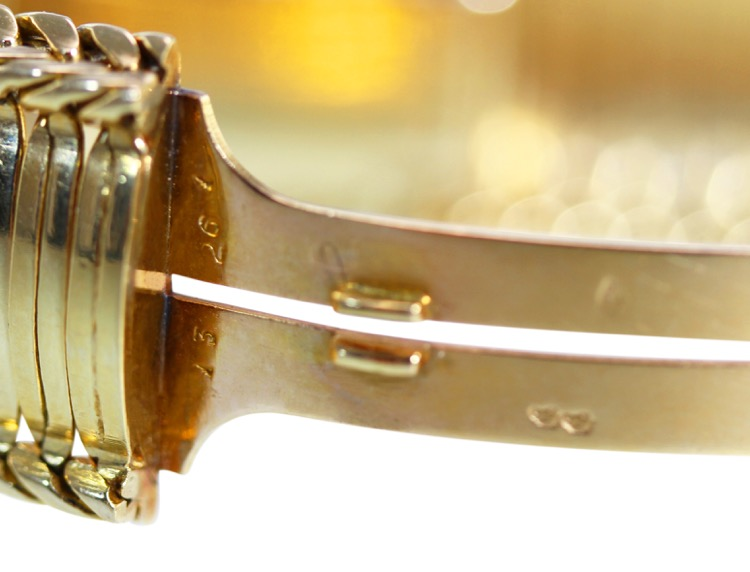 18 Karat Gold Watch by Cartier, France, circa 1950s - Image #6
