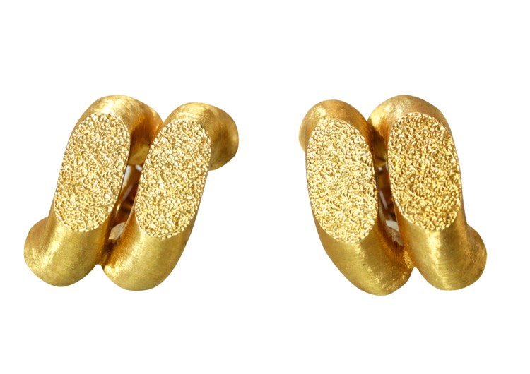 Pair of 18 Karat Gold