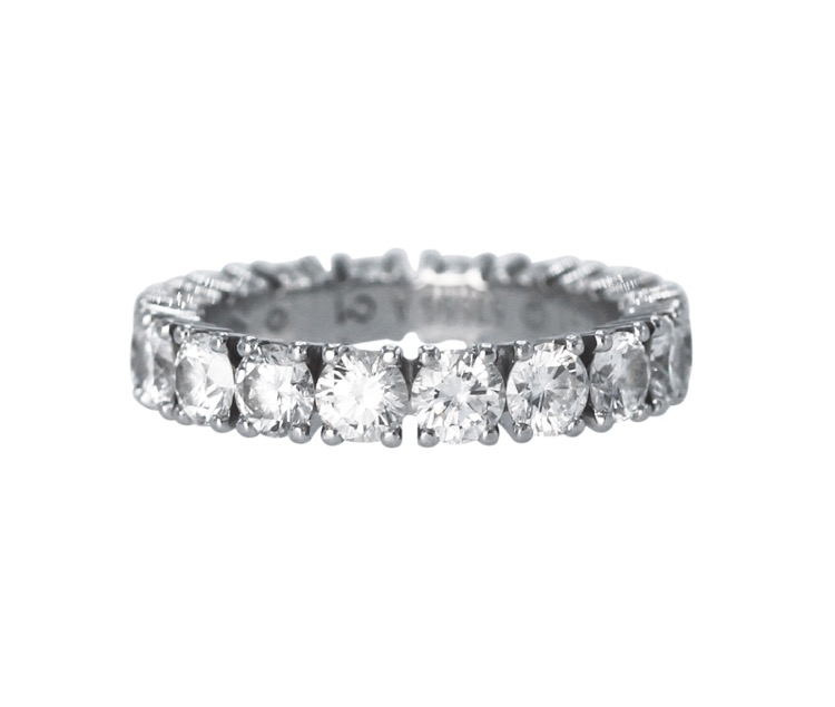 Platinum and Diamond Eternity Ring by Cartier