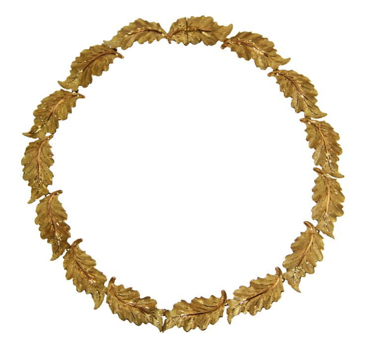 18 Karat Gold Foliate Necklace by Buccellati, Italy
