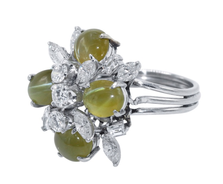 trillion yellow triangle design chrysoberyl ring engagement gemstone and carat diamond rings gold white