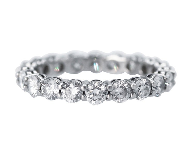 Platinum and Diamond Eternity Ring by Tiffany & Co.