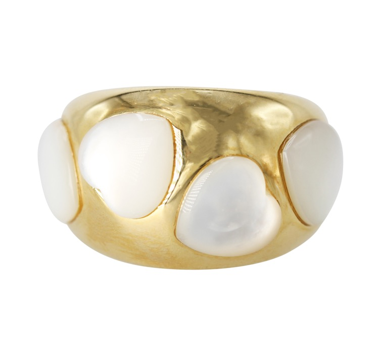 18 Karat Gold and Mother-of-Pearl Ring