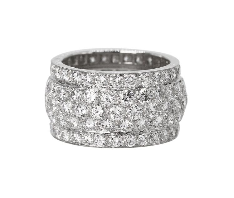 "18 Karat White Gold Diamond ""Nigeria"" Band by Cartier, France"
