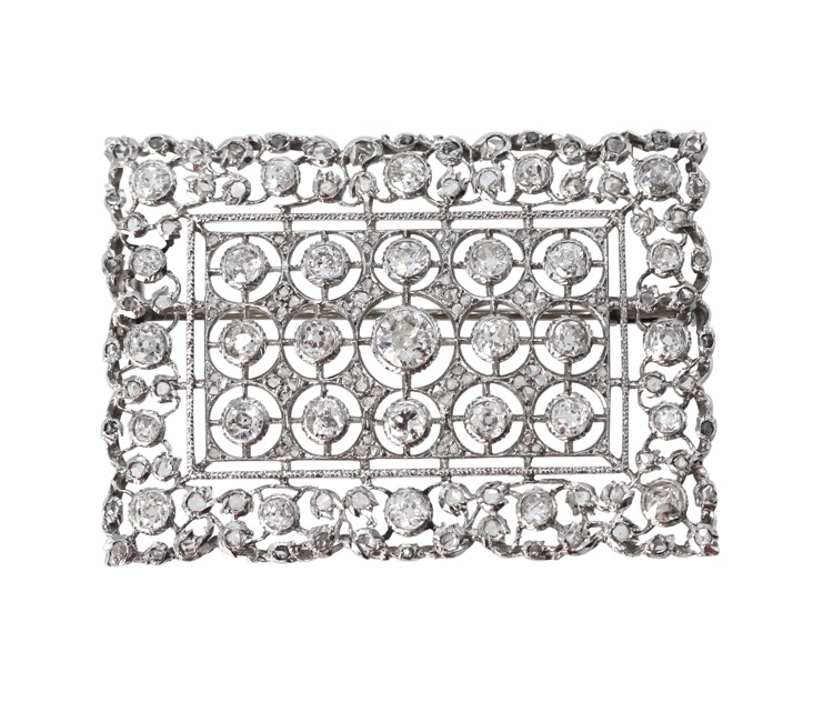 Platinum and Diamond Brooch by Buccellati, Italy, circa 1930