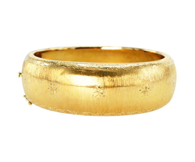 18 Karat Gold Bangle Bracelet by Buccellati, Italy, circa 1960