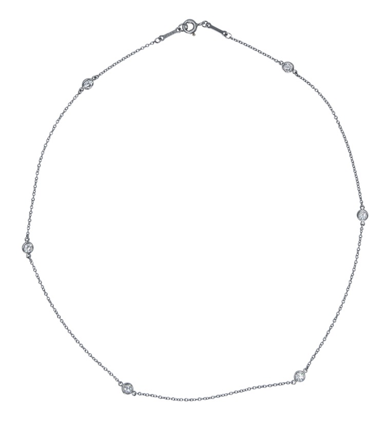 "A Platinum ""Diamond by the Yard""  Necklace by Elsa Peretti for Tiffany & Co."