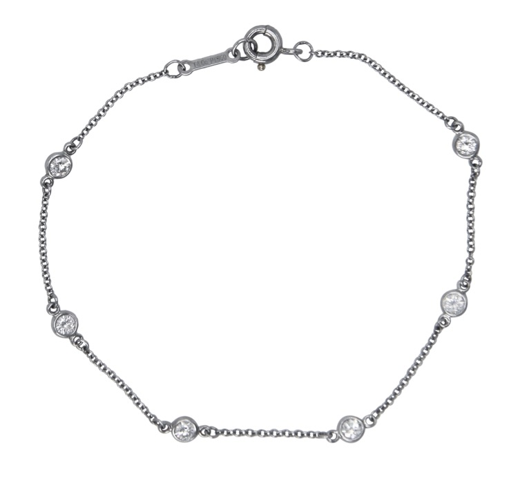 "Platinum and Diamond ""Diamonds by the Yard\"" Bracelet by Elsa Peretti for Tiffany & Co."