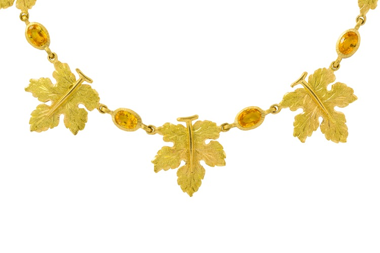 18 Karat Gold and Yellow Sapphire Necklace by Buccellati, Italy - Image #3